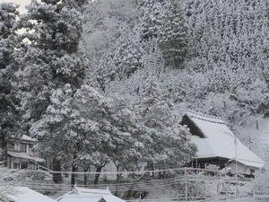 大原神社雪景